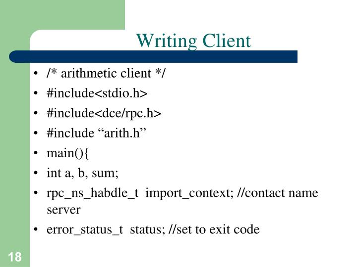 Writing Client