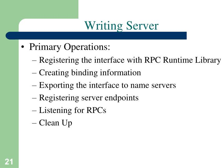Writing Server