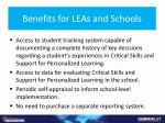 benefits for leas and schools