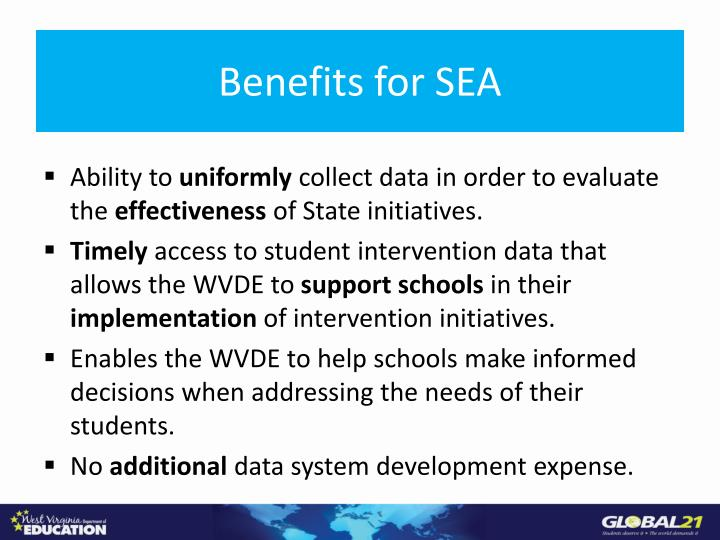 Benefits for SEA