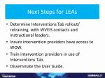 next steps for leas