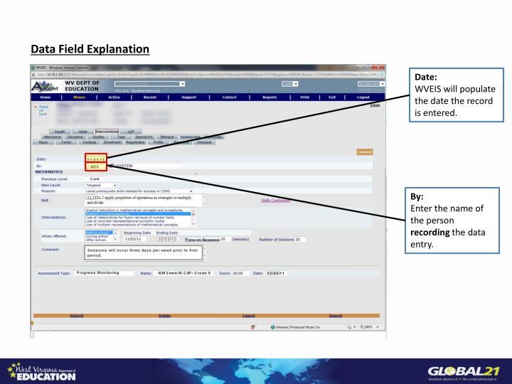 Data Field Explanation