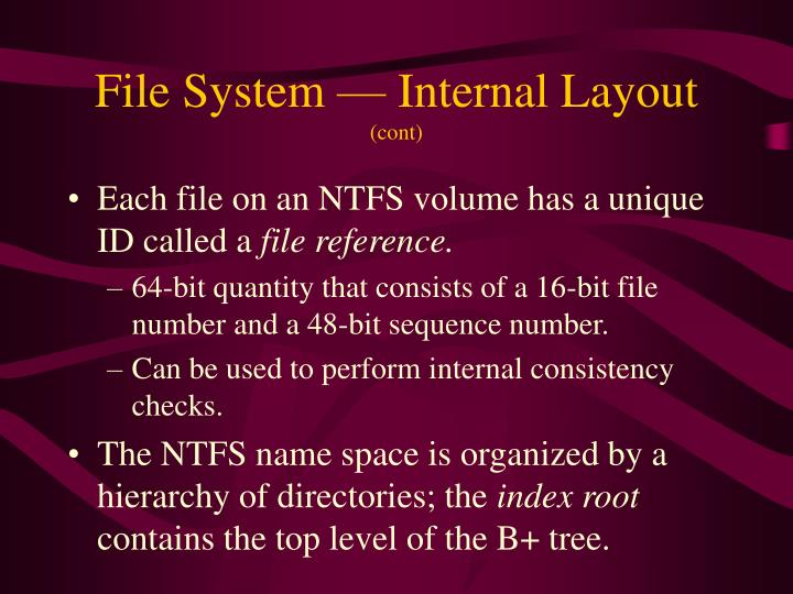 File System — Internal Layout