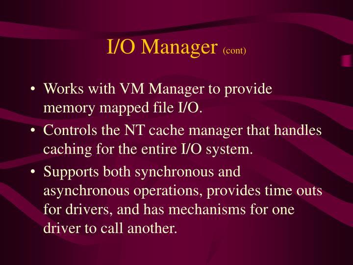 I/O Manager