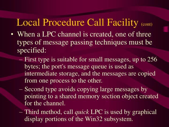 Local Procedure Call Facility
