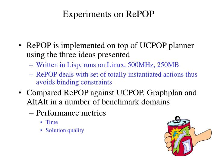 Experiments on RePOP
