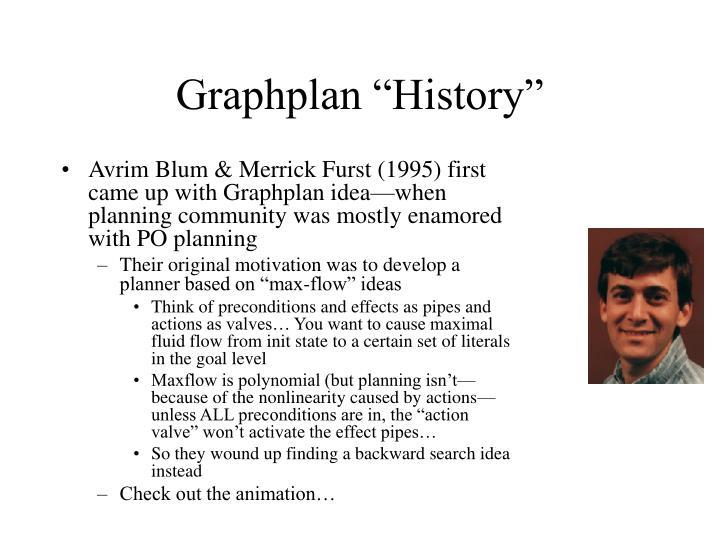 "Graphplan ""History"""