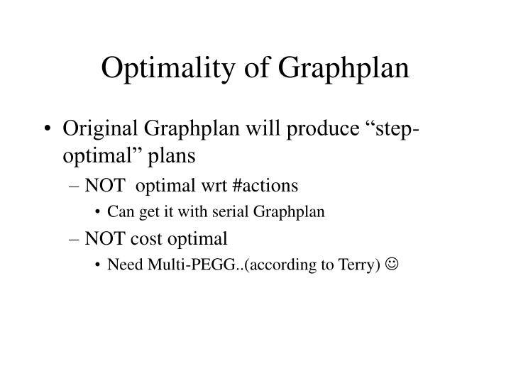 Optimality of Graphplan
