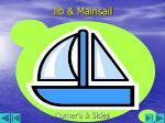 jib mainsail