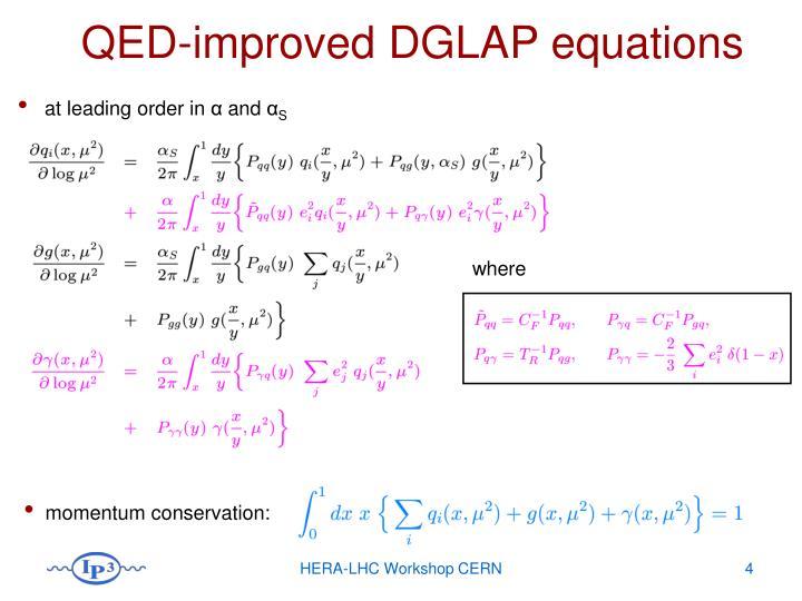 QED-improved DGLAP equations