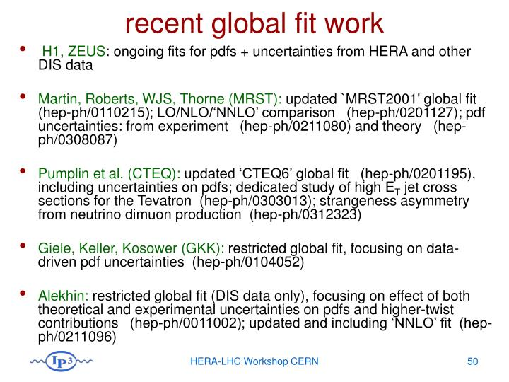 recent global fit work