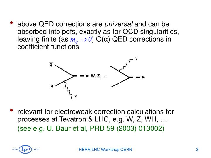 above QED corrections are