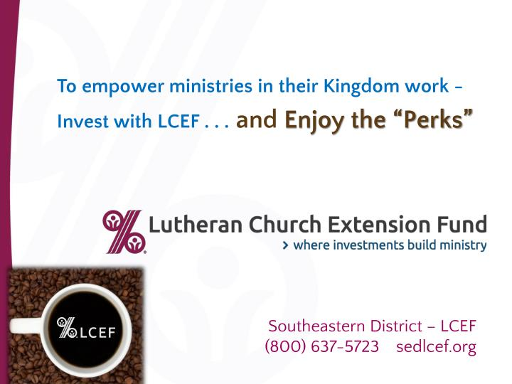 To empower ministries in their Kingdom work -