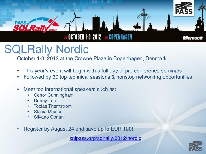 SQLRally Nordic