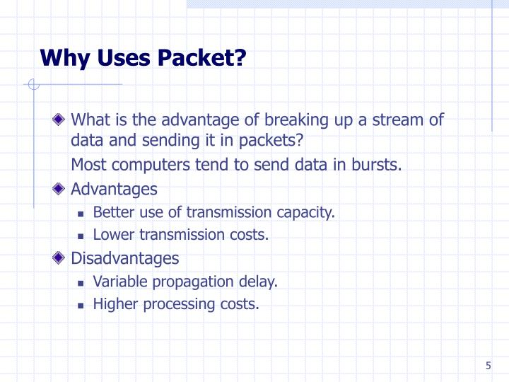 Why Uses Packet?