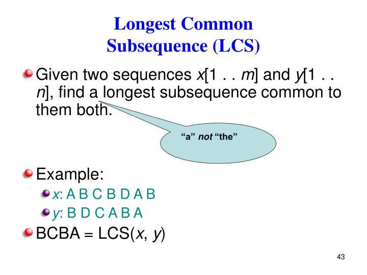 Longest Common