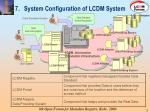 7 system configuration of lcdm system
