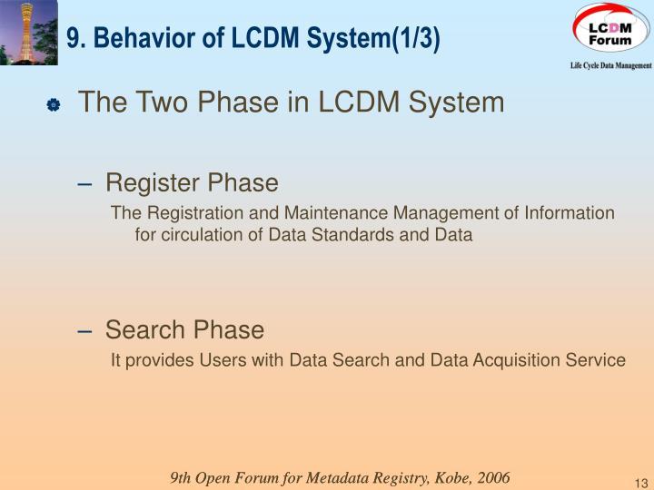 9. Behavior of LCDM System(1/3)
