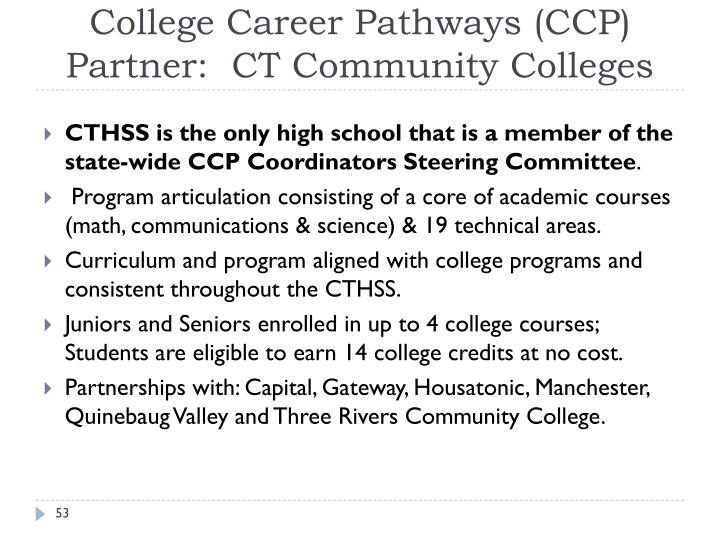 College Career Pathways (CCP)