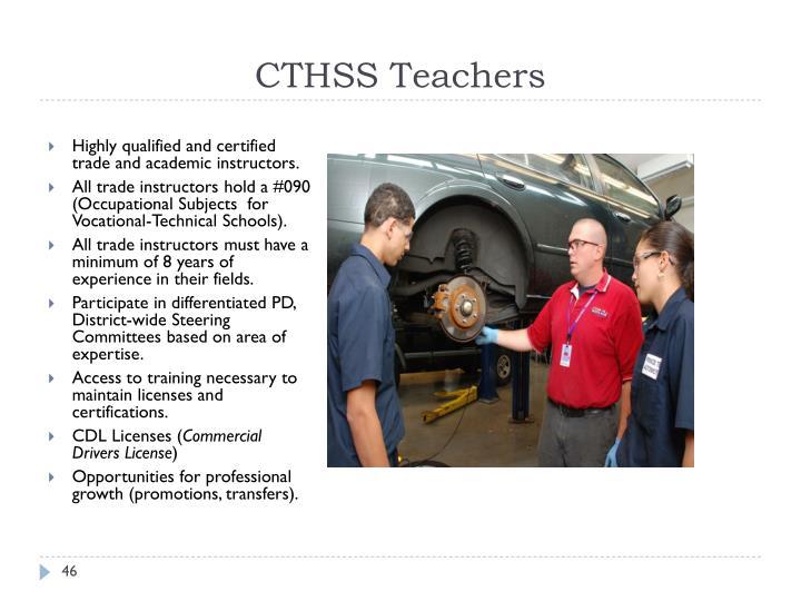 CTHSS Teachers