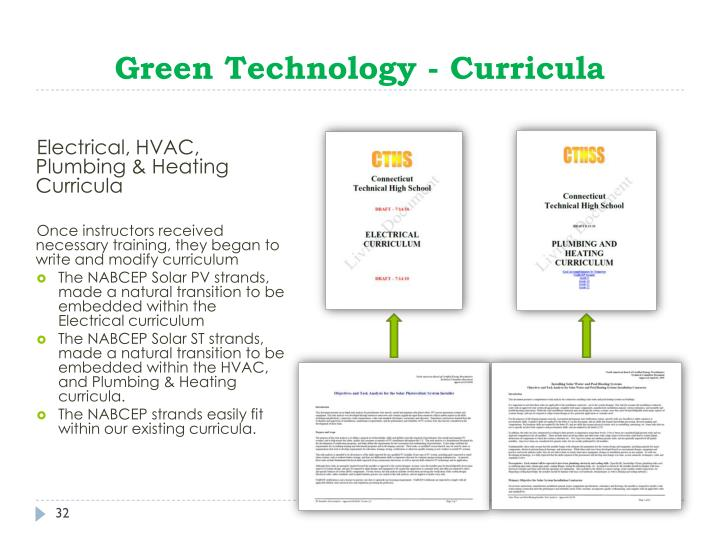Green Technology - Curricula