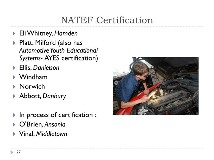 NATEF Certification