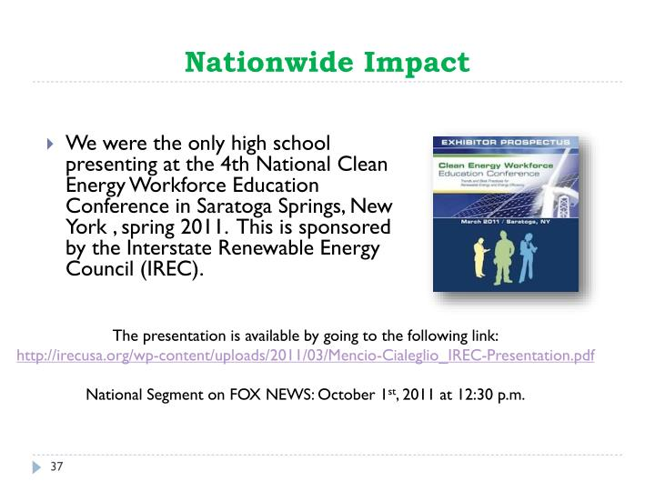 Nationwide Impact