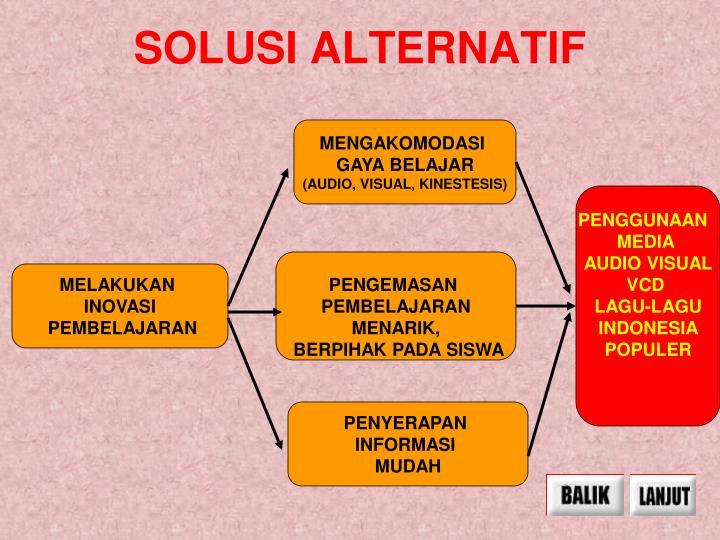 SOLUSI ALTERNATIF