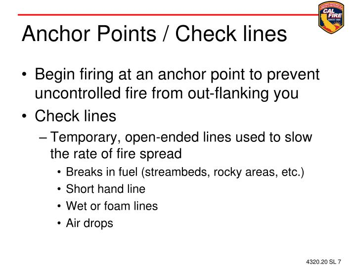 Anchor Points / Check lines