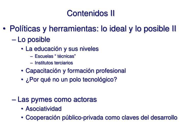 Contenidos II