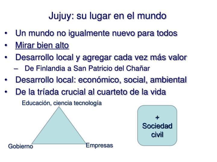 Jujuy: su lugar en el mundo