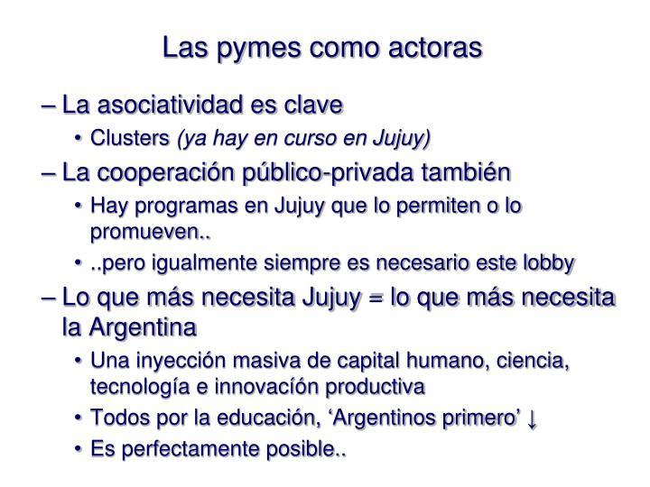 Las pymes como actoras