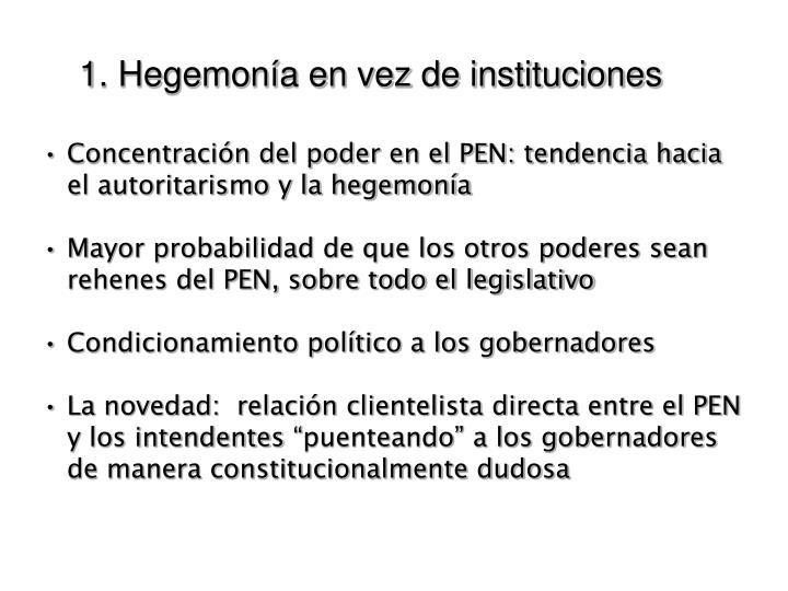 1. Hegemonía en vez de instituciones