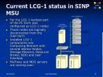 current lcg 1 status in sinp msu
