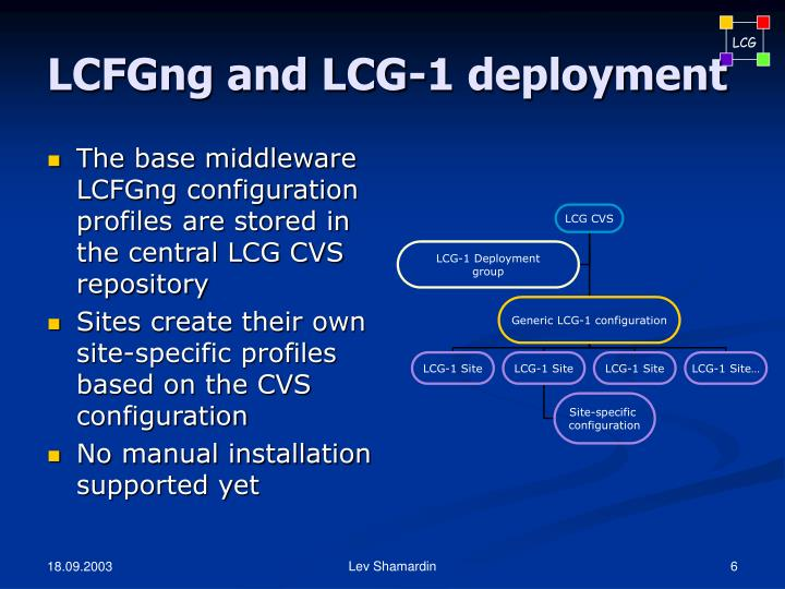 LCFGng and LCG-1 deployment
