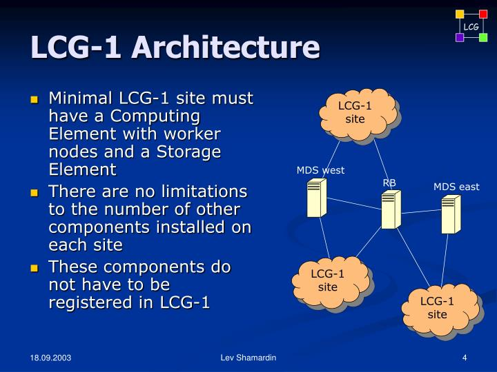 LCG-1 Architecture