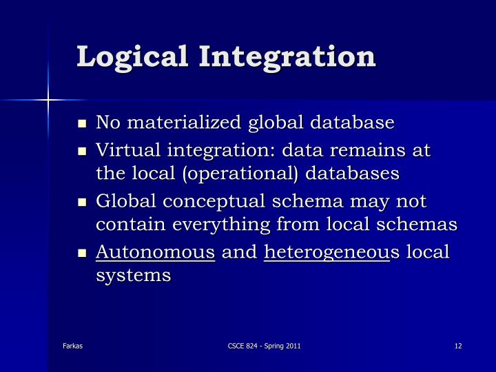 Logical Integration
