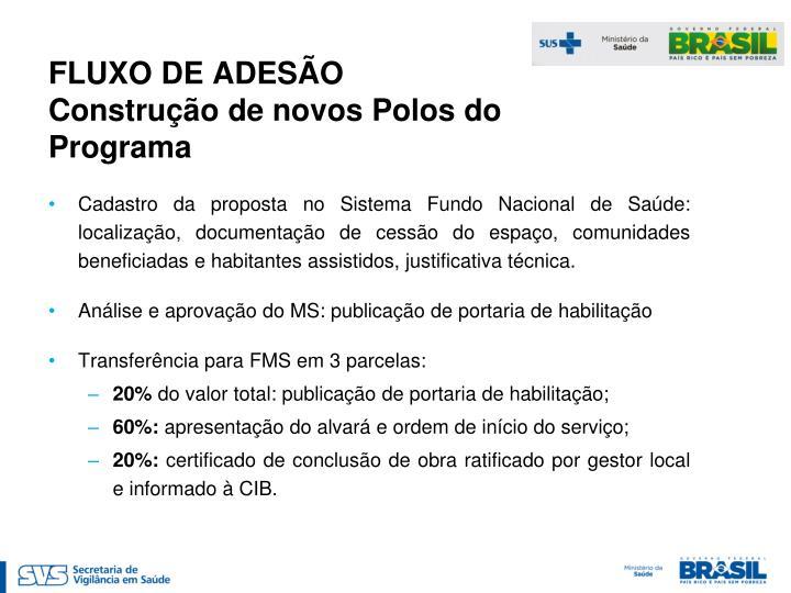 FLUXO DE ADESÃO