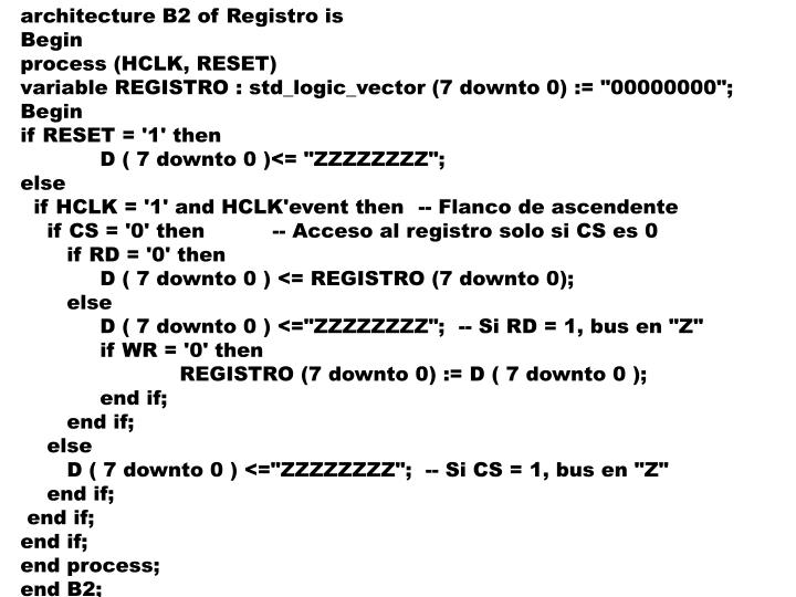 architecture B2 of Registro is