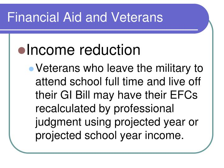 Financial Aid and Veterans
