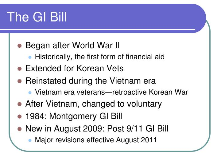 The GI Bill