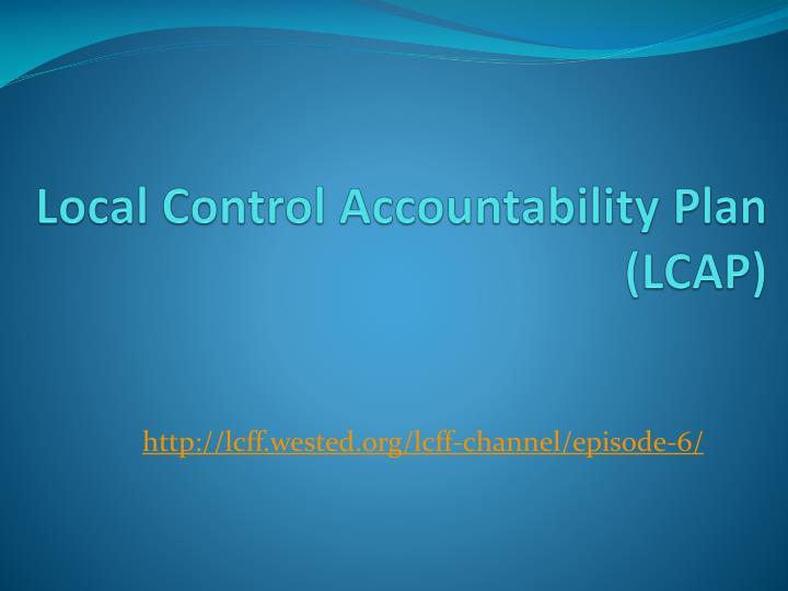 Local Control Accountability Plan (LCAP)