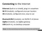 connecting to the internet1