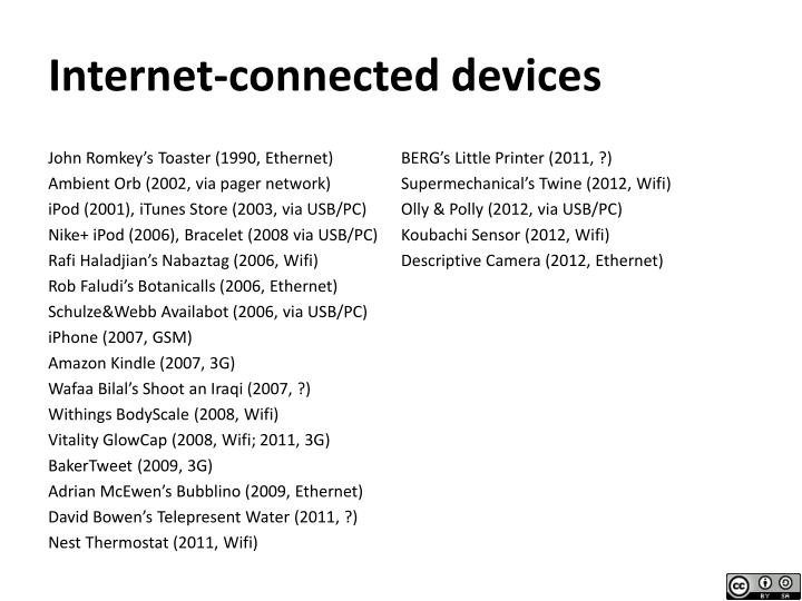 Internet-connected devices