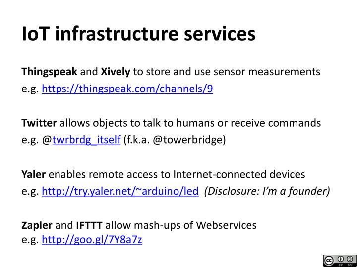 IoT infrastructure services