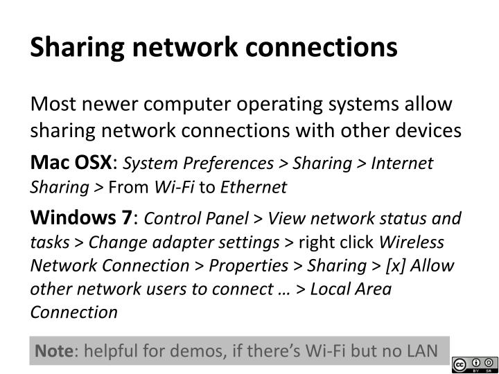 Sharing network connections