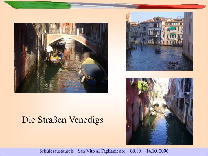 Die Straßen Venedigs