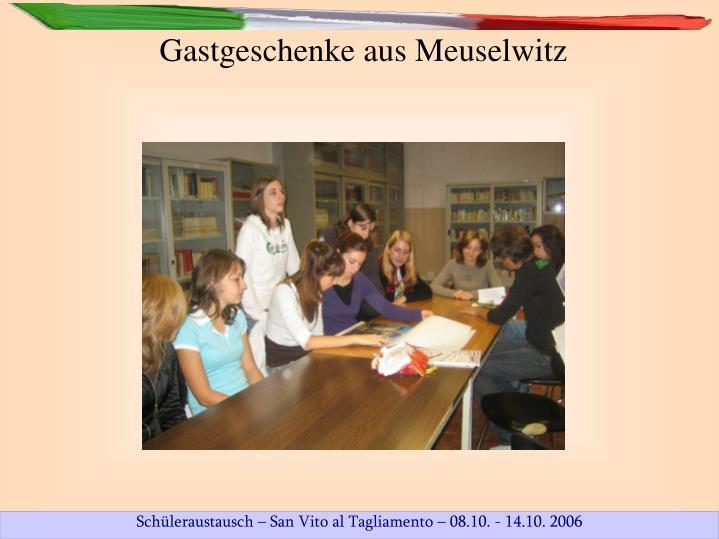 Gastgeschenke aus Meuselwitz