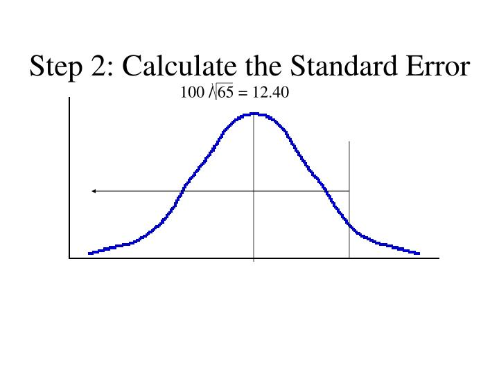 Step 2: Calculate the Standard Error