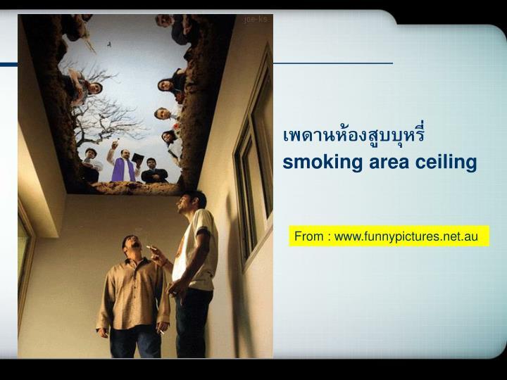 เพดานห้องสูบบุหรี่